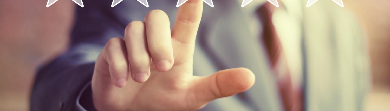 Business key rating increase web icon